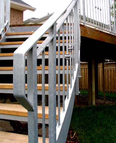Galvanized Curved Stair & Rail
